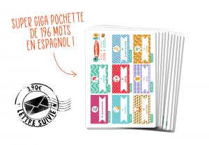 Pochette 196 mots de vocabulaire espagnol