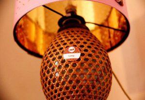 étiquette de langues adhésive amovible pour apprendre à la maison en s'amusant Lamp