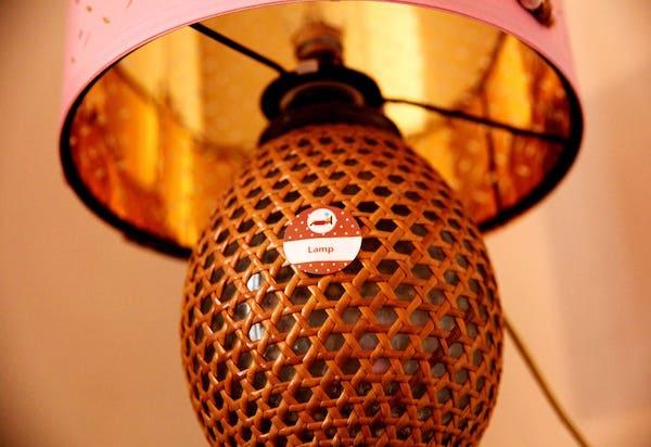 Lamp étiquette amovible anglais