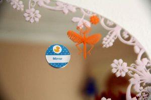 étiquette de langue adhésive amovible pour apprendre en s'amusant à la maison mirror anglais